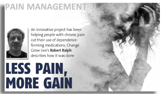 Pain management image of woman holding her head