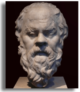 Bust of Socrates the classical Greek philosopher credited as one of the founders of Western philosophy linking to what philosophers teach us about addiction?