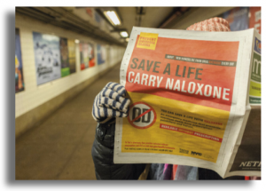 Harm reduction advert for naloxone