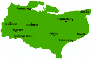 Map of Kent